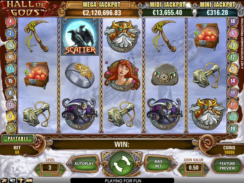 Hall of Gods slots game